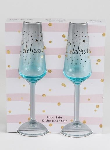 Rakle 195 cc Celebrate 2'li Şampanya Kadehi Seti Mavi Mavi